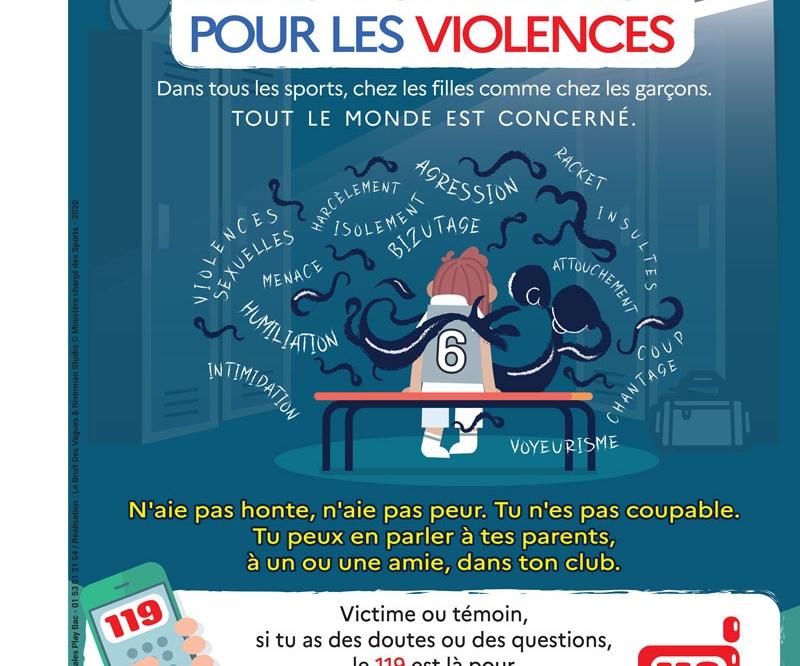 ZERO TOLERANCE POUR LES VIOLENCES