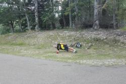 l'équipe régionale de ski nordique en stage d'été