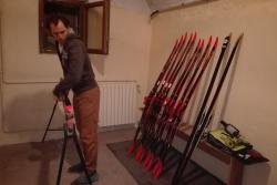 jeunes cévenols en déplacement ski de fond et biathlon